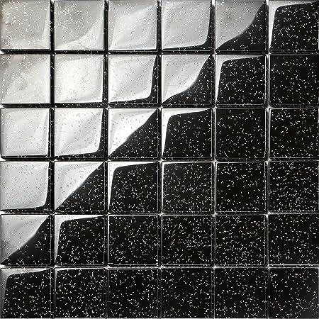Noir Mosaïque 8 mm