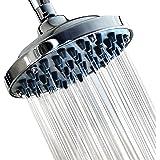 "6"" Fixed Shower head -High Pressure Showerhead Chrome - Powerful Shower Spray against Low water flow - Anti-clog Anti-leak -"