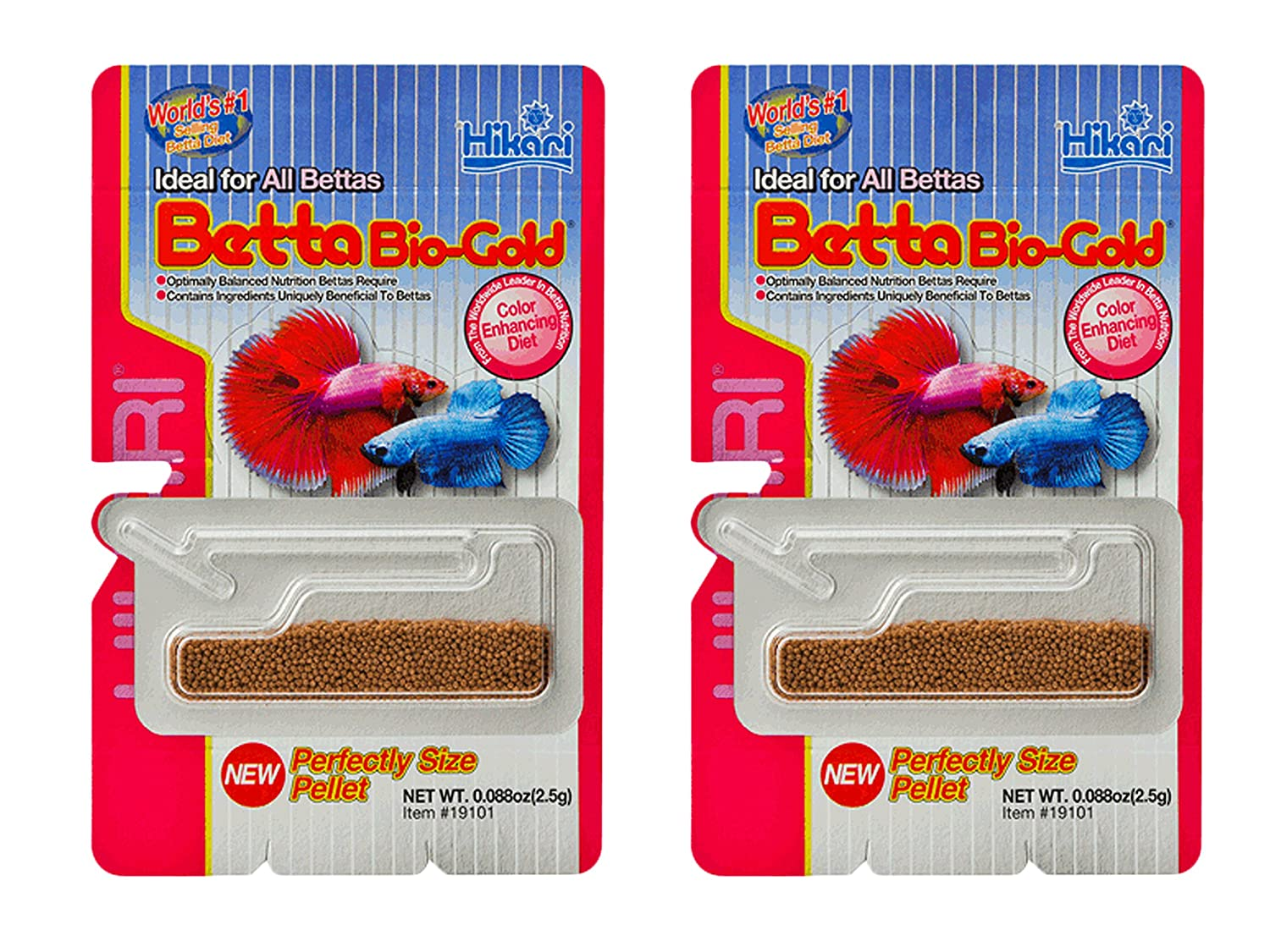 Amazon.com : Pack of 2 Hikari 0.176 oz Betta Bio-Gold Baby Pellets ...