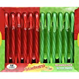 Starburst Strawberry & Green Apple Candy Canes, 6 oz, 12 count
