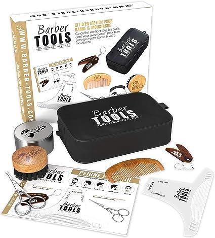 ✮ BARBER TOOLS ✮ Kit/Set/Estuche de arreglo y cuidado de la barba: Amazon.es: Belleza