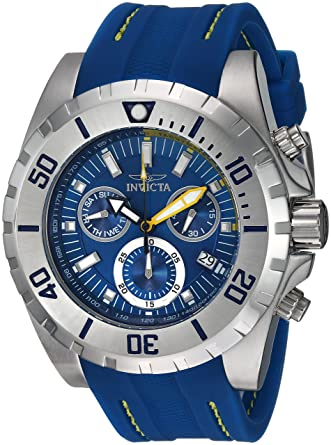 4ca279e7b Amazon.com: Invicta Men's Pro Diver Stainless Steel Quartz Watch with  Polyurethane Strap, Blue, 26 (Model: 24920): Watches