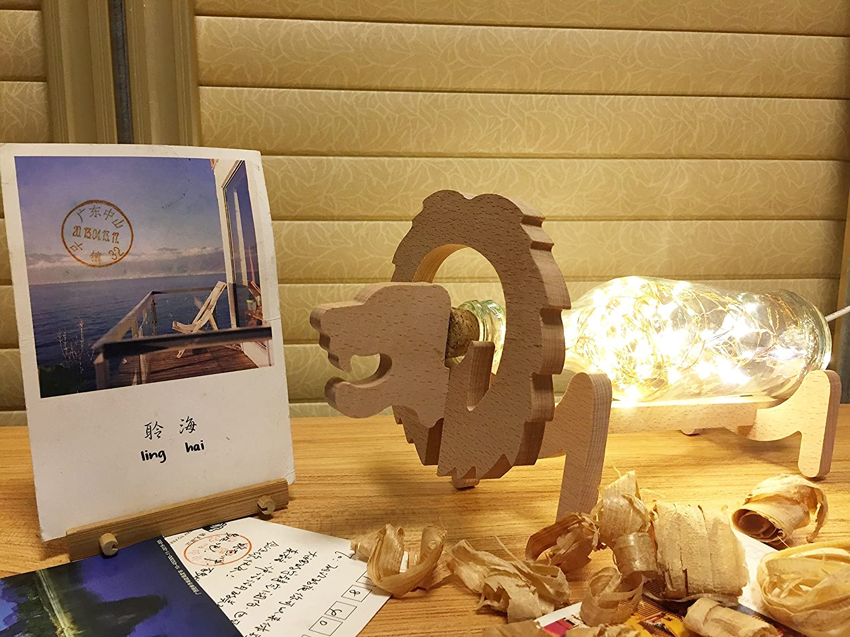 銅ワイヤ文字列ブナ動物モデリングアートUSBナイトライト、ソフトライト装飾ランプデスクランプ部屋、装飾ホリデーパーティーAtmosphere、4 +スタイル LION B07CC42BST