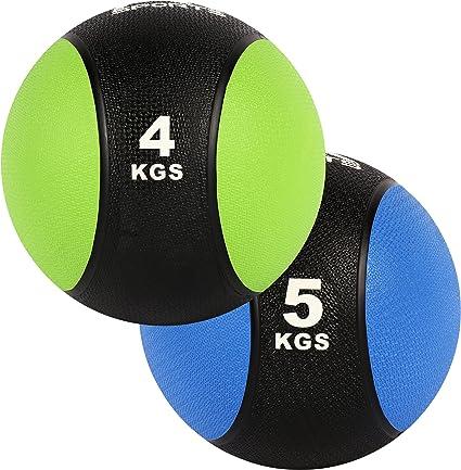Balón Medicinal Juego 4 + 5 kg – Calidad de estudio profesional ...