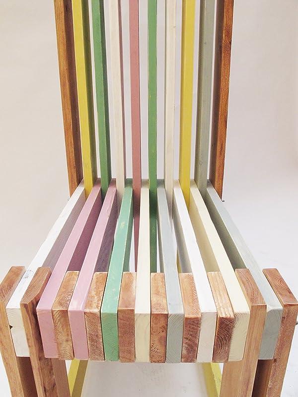 Sillas madera reciclada hecha a mano por encargo. Silla Palé ...
