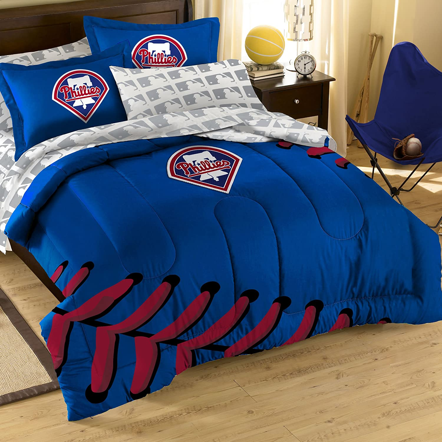 Amazon MLB Philadelphia Phillies Full Bedding Set Sports
