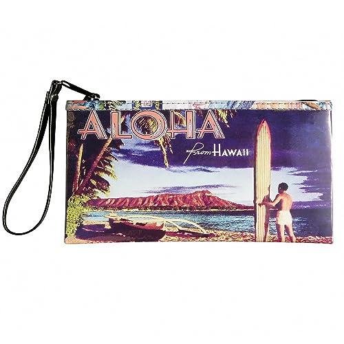 170539c2cc Large Wristlet with Hawaiian vintage lifestyle prints FREE SHIPPING Hawaii  gift for Luau wallet dance dancing print prints art poster memories of  Hawaii ...