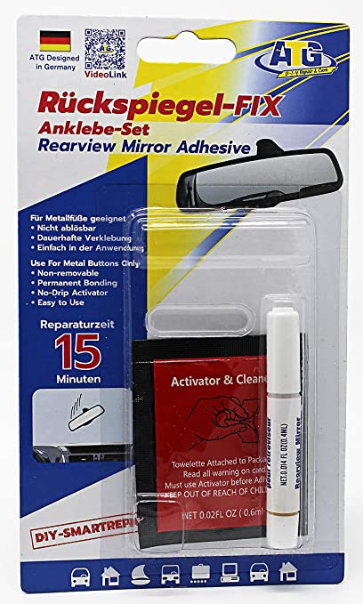 Amazon.com: ATG rear mirror FIX – adhesive set for attaching car ...
