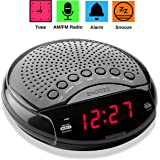 "Magnavox Digital Dual Alarm Clock AM/FM Radio,Dimmer,Snooze, 0.6"" Digital LED Display and Battery Backup Function"