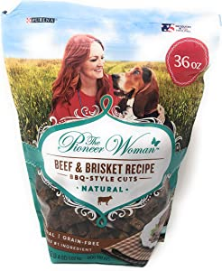 The Pioneer Woman Beef & Brisket BBQ-Style Cuts Dog Treats-Natural Grain Free-36 Oz Bag Made in The USA