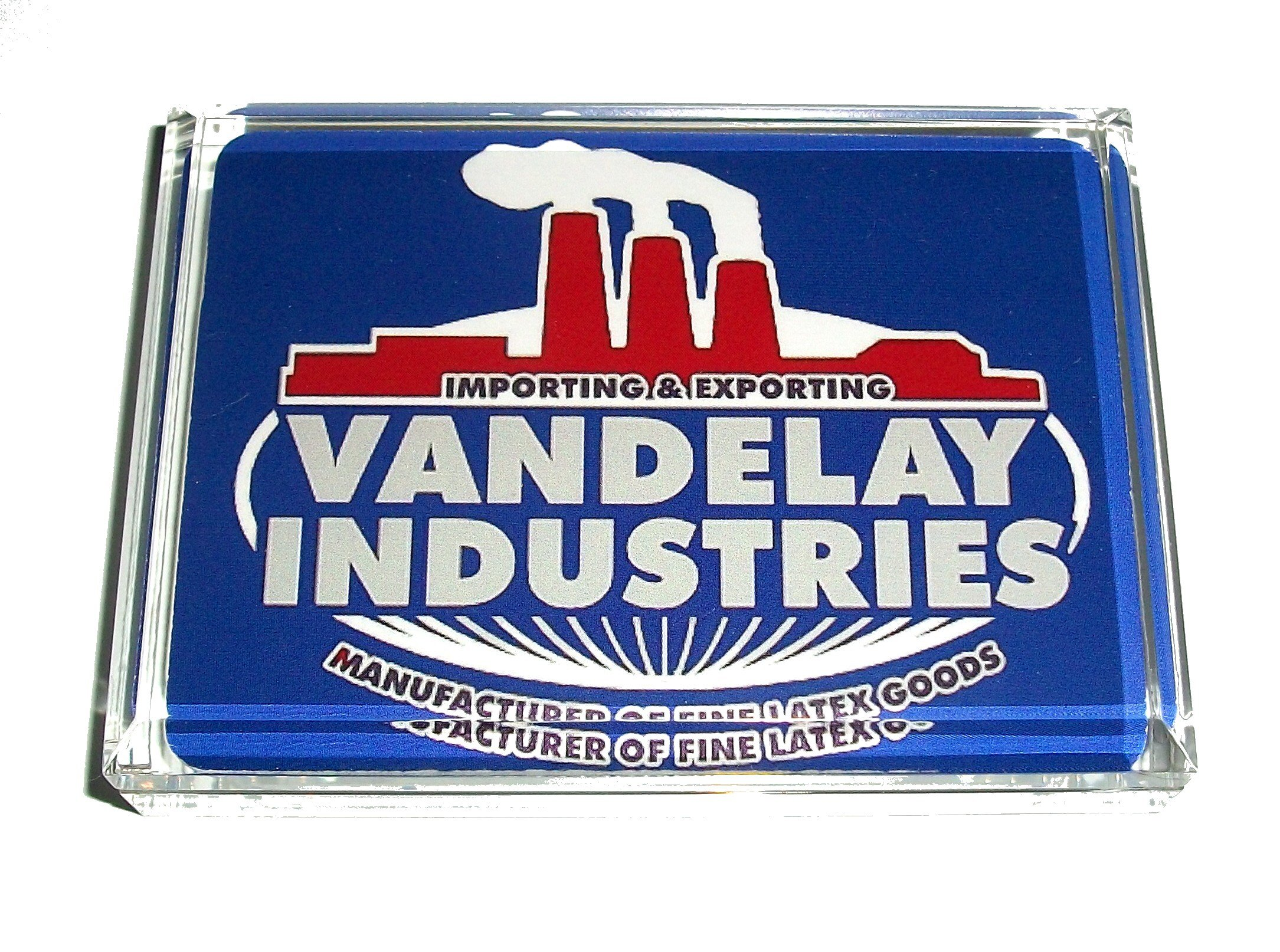 Seinfeld Vandelay Industries Acrylic Executive Display Piece Desk Paperweight