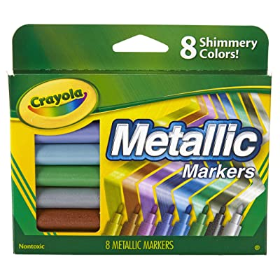 Crayola Metallic Markers, 8 Count: Toys & Games