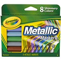 CRAYOLA 58-8628 Metallic Markers, 8 Steely Metallic Colours, Great for Card Making, Scrapbooking, Calligraphy, Christmas…