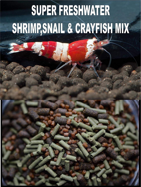AQUATICBLENDEDFOODS Super Freshwater Shrimp,Snail & Crayfish Food Mix - ABF109