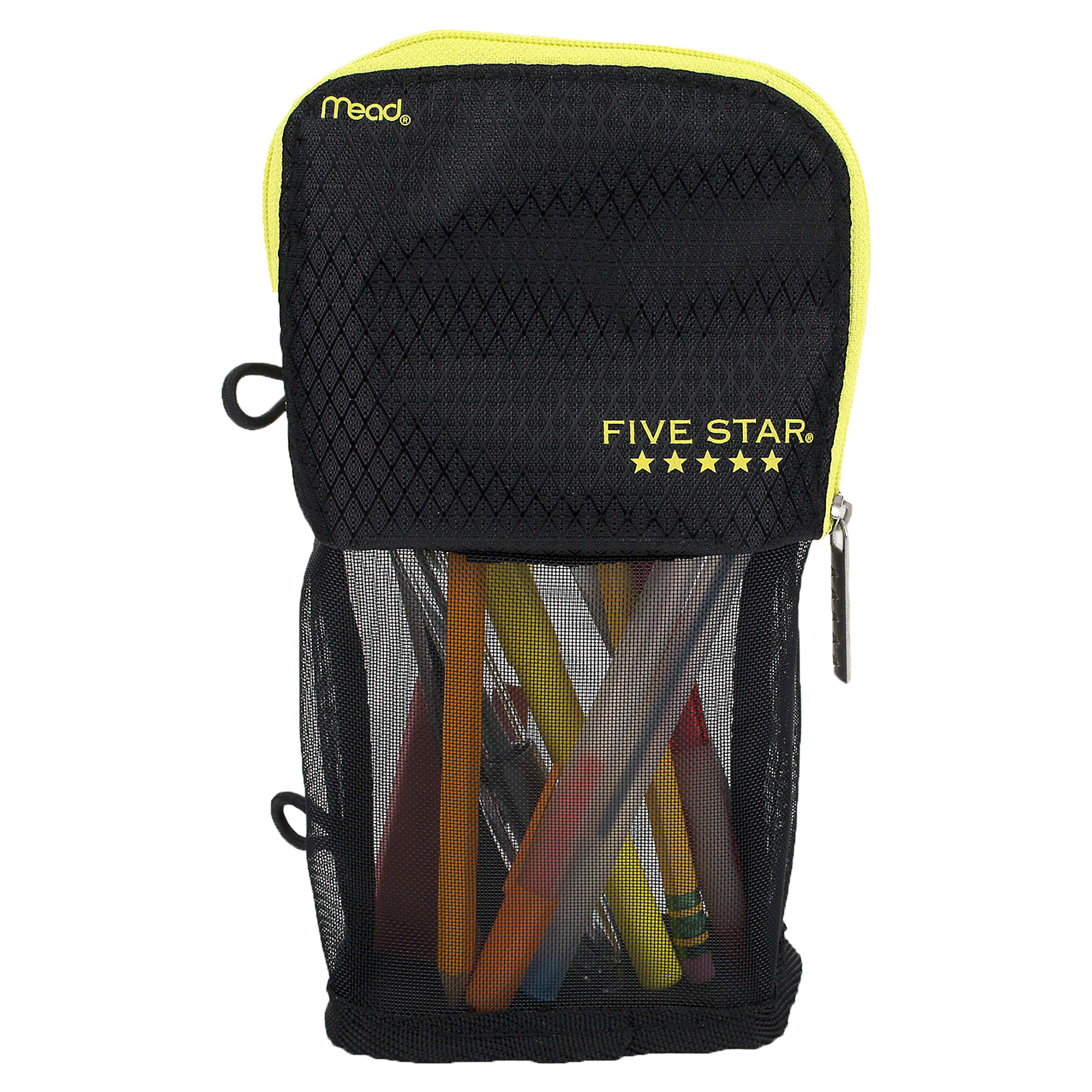 Five Star Stand N Store Pencil Pouch/Case, School Supplies - Black