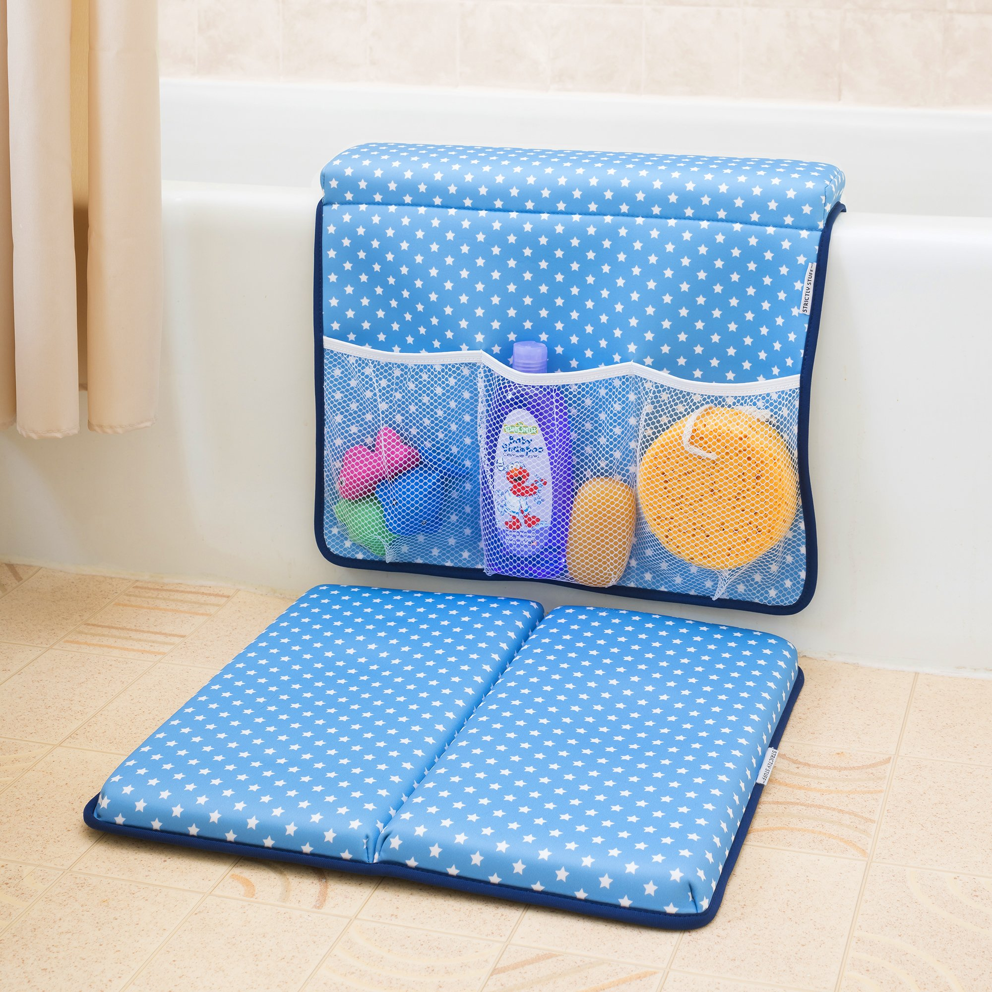 Strictly Stuff Baby Bath Kneeler and Elbow Pad (Pink). Thick, Soft Knee Padding. Durable Neoprene Material and Design. Non-Slip Backing with Suction Cups. Fits All tubs. Three Great Color Patterns. by Strictly Stuff (Image #3)