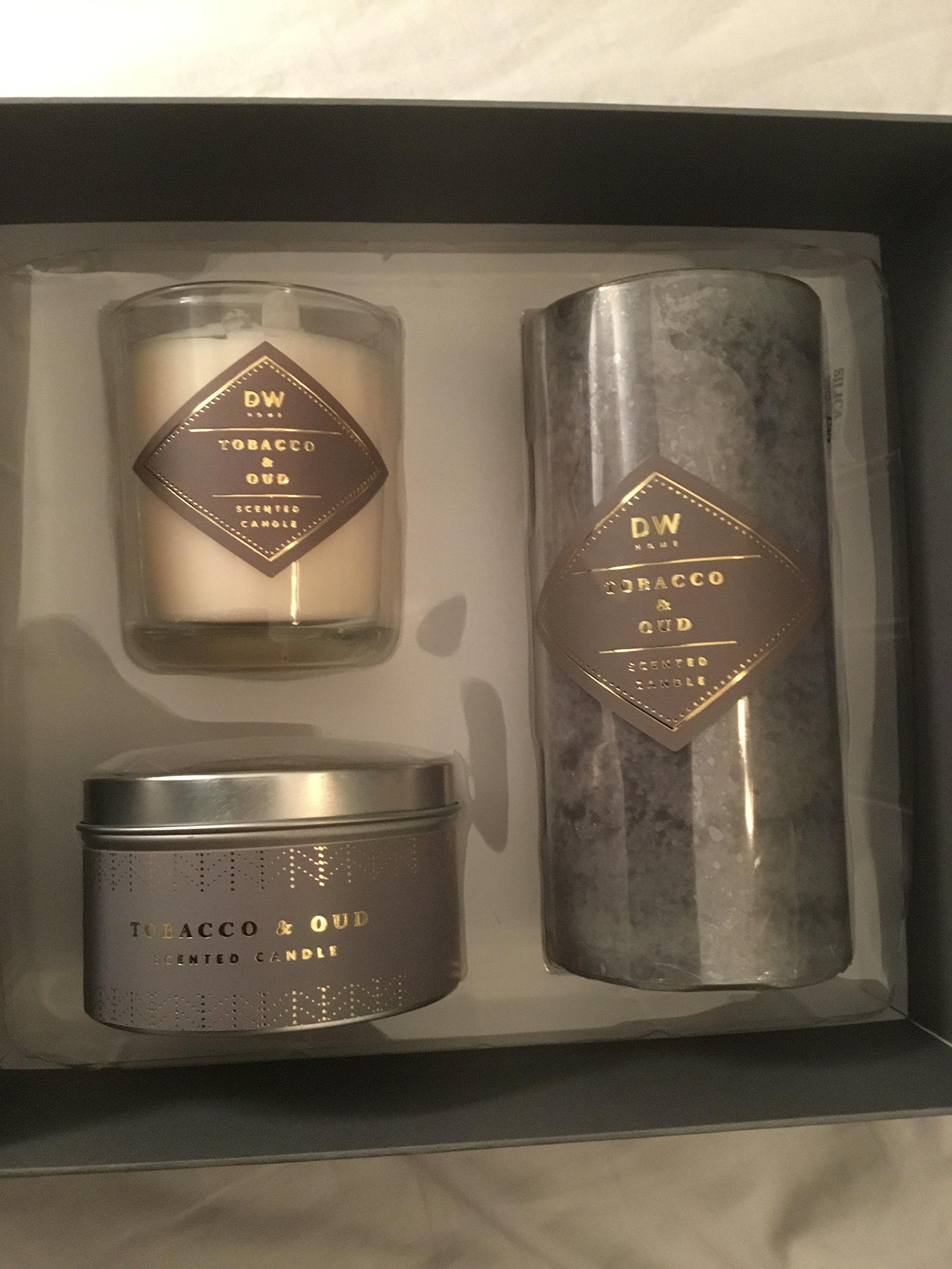 DW Home Tobacco & Oud Candle Gift Set