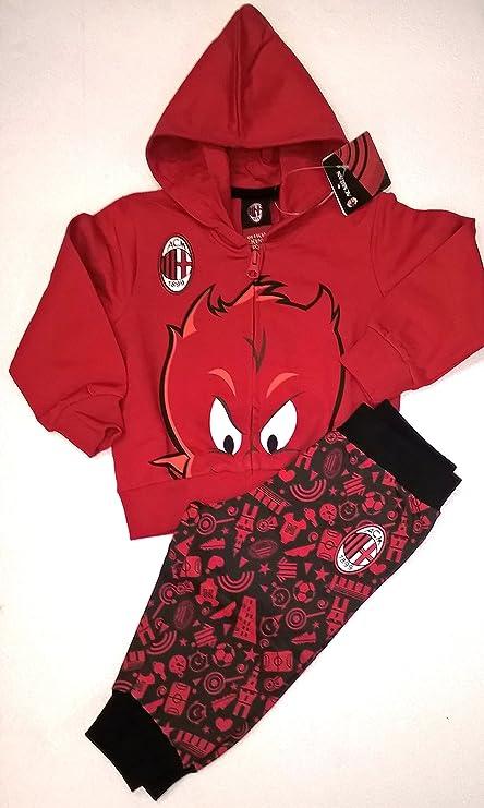 89b55ce3654d8a AC Milan Completo Felpa + Pantaloni Tuta Milan Bambino Neonato Prima  Infanzia Prodotto Ufficiale: Amazon.it: Sport e tempo libero