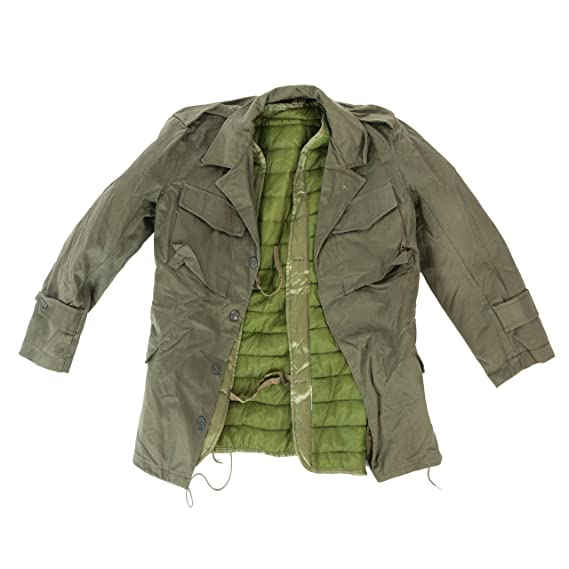 46f24f53c07 Genuine Greek Army Olive M43 Field Jacket Combat Military Lined Jacket New  (36)  Amazon.co.uk  Clothing