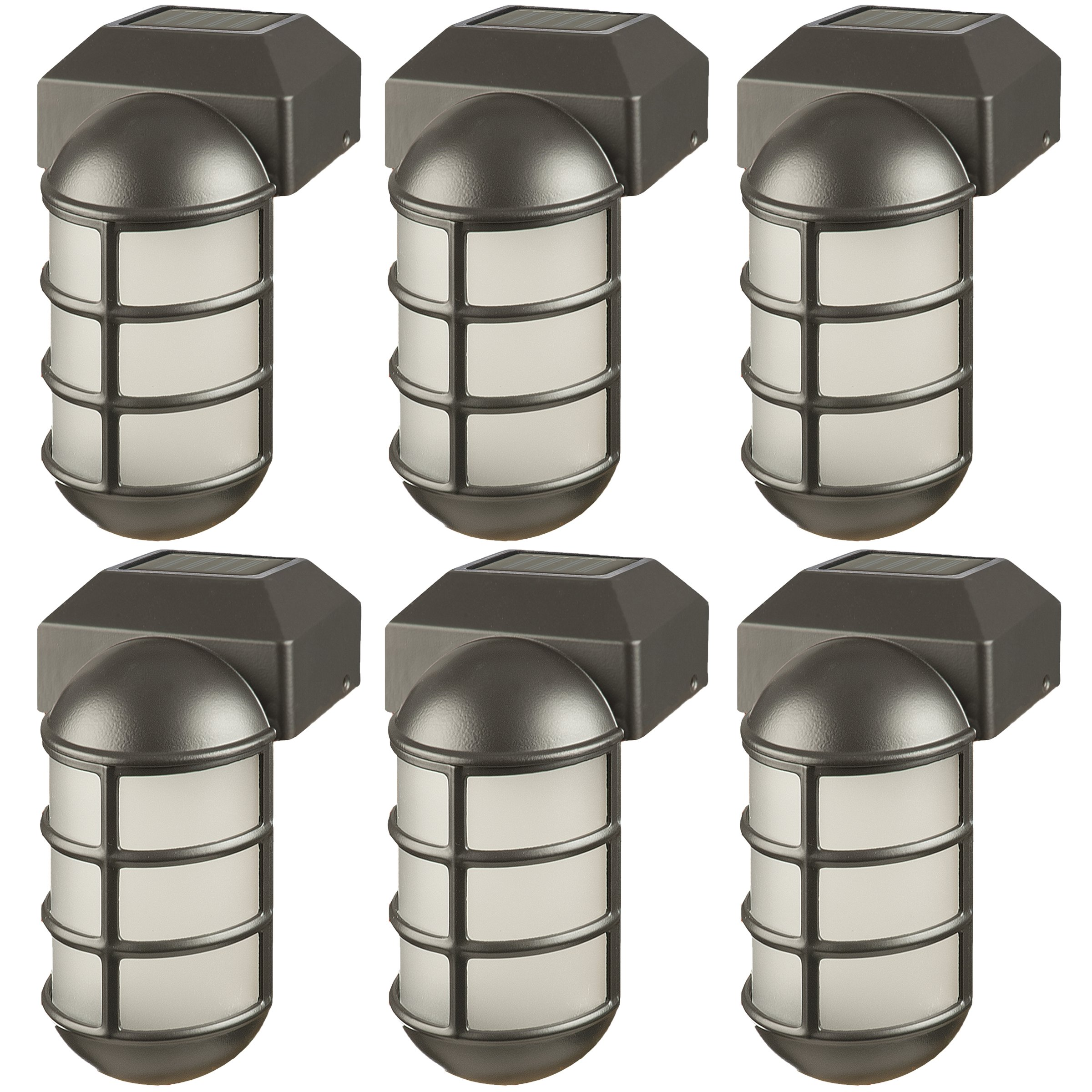 Paradise GL23877BK Solar Aluminum LED Post Cap Light for 4 x 4 Wood Posts (Black, 6 Pack)