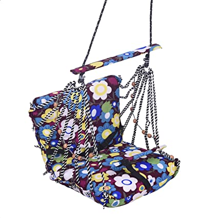 Aashi Enterprise Babys Cotton Folding and Washable Swings (4 to 12 Years, Multicolour)