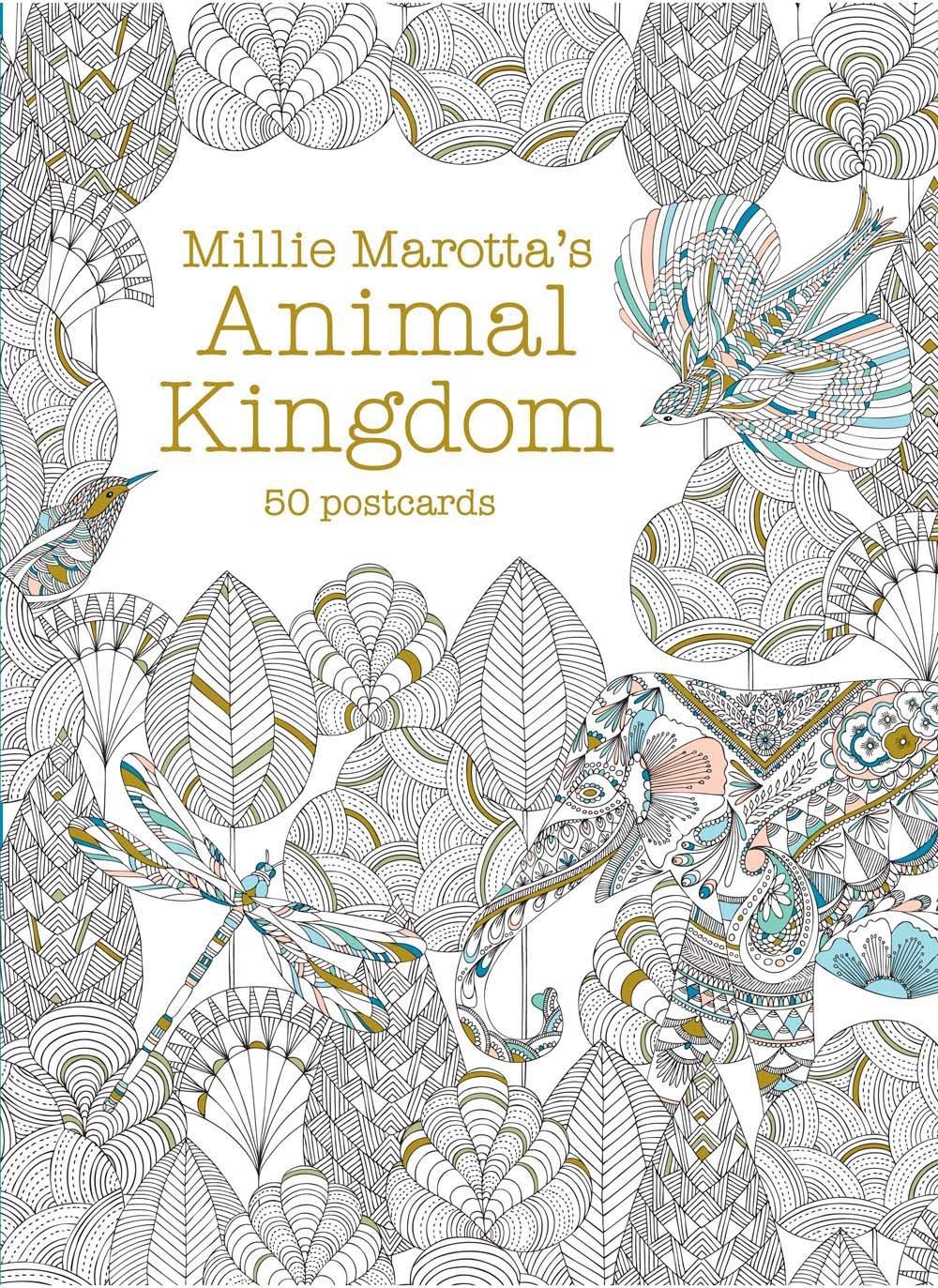 Millie Marottas Animal Kingdom Postcard Box 50 Postcards Millie