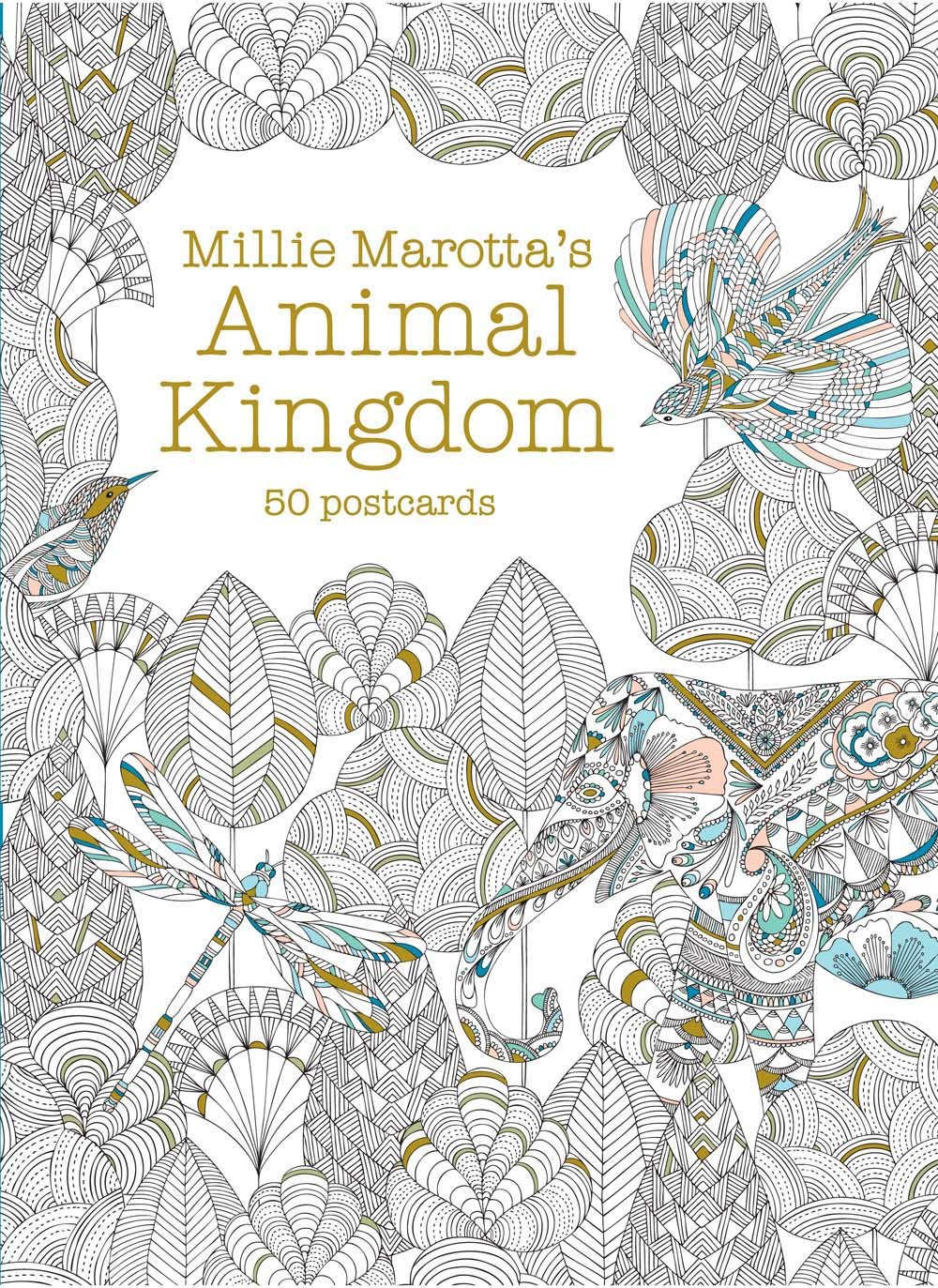 amazoncom millie marottas animal kingdom postcard box 50 postcards a millie marotta adult coloring book 9781454709282 millie marotta books