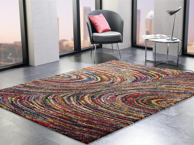 INTERSTELLAR DIAMOND Designer Hochflor Langflor Teppich in multicolor, Größe  140x200 cm