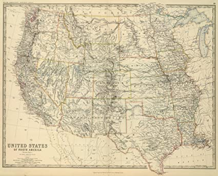 Amazon.com: Historic Map | Western United States, 1879 World ...