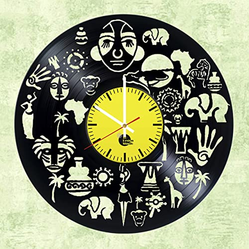 Amazon.com: South Africa HANDMADE Vinyl Record Wall Clock - Get ...