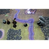 Interchangeable Clear Battle Tiles Great for D&D and RPG Games Small 10-Pack