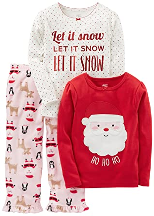 454676a6cb23 Amazon.com  Simple Joys by Carter s Toddler Girls  3-Piece Santa ...