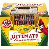Crayola Ultimate Crayon Collection; 152 Colors, Durable CaddyCase,Sharpener, Coloring Gifts for Adults and Kids