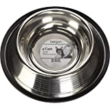 Maslow Dog Bowl with Ridges, Stainless Steel, Non-Skid, 4-Cup