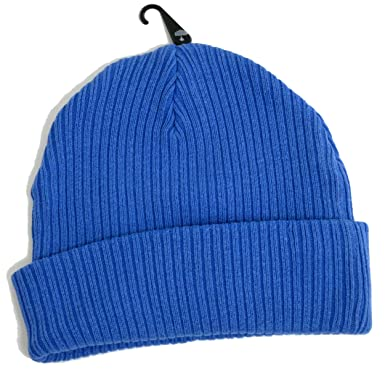 f343ef82c9d Topman Mens Royal Blue Classic Fit Beanie Thick Ribbed Hat One Size   Amazon.co.uk  Clothing
