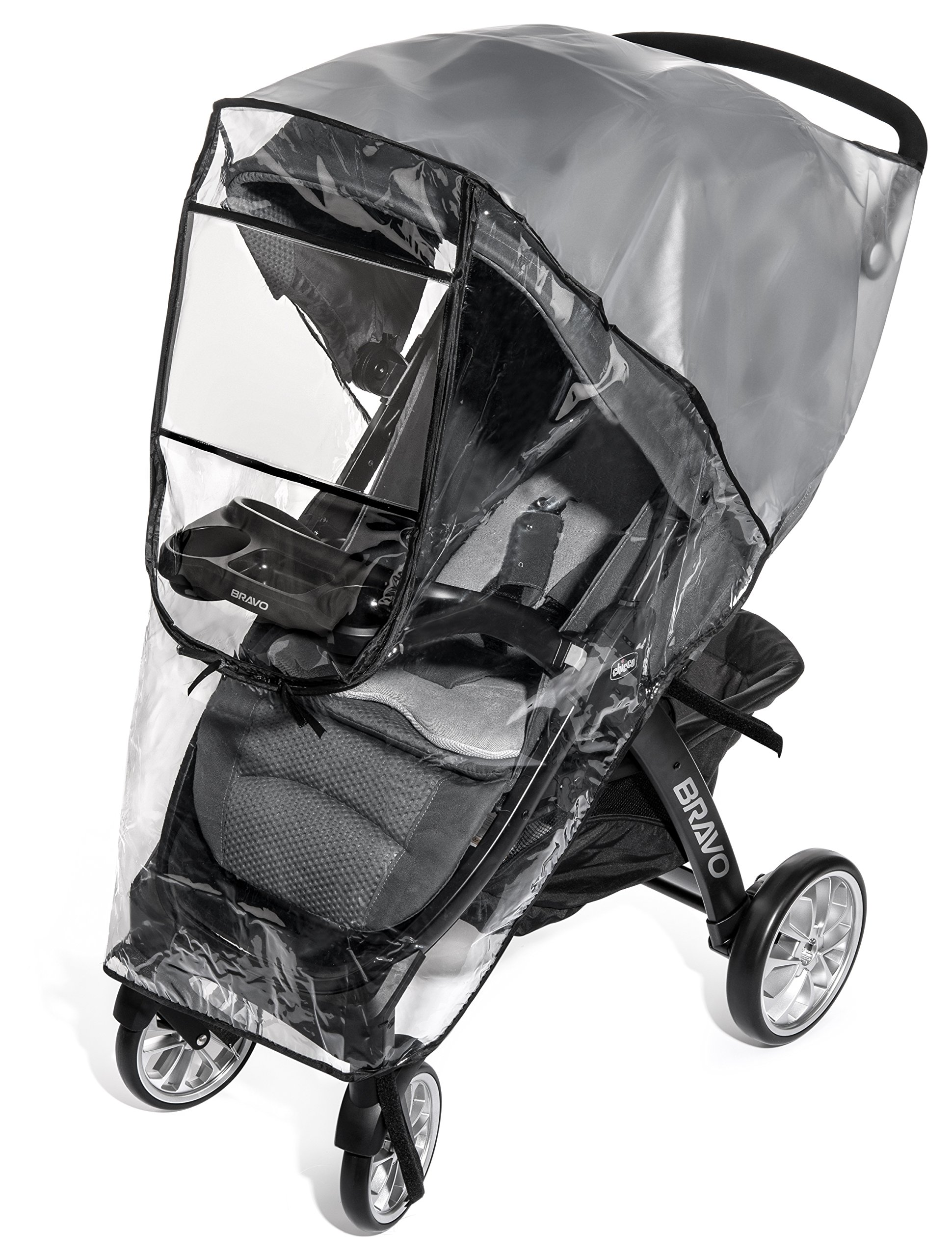Weltru Premium Stroller Rain Cover Weather Shield, Easy in/Out Zipper, Universal Size, Waterproof, Protects Against Wind, Rain, Snow, Insects by Weltru