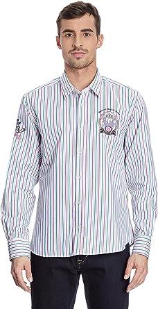 GALVANNI Camisa Hombre Theodor Crudo/Verde/Fucsia XL: Amazon ...
