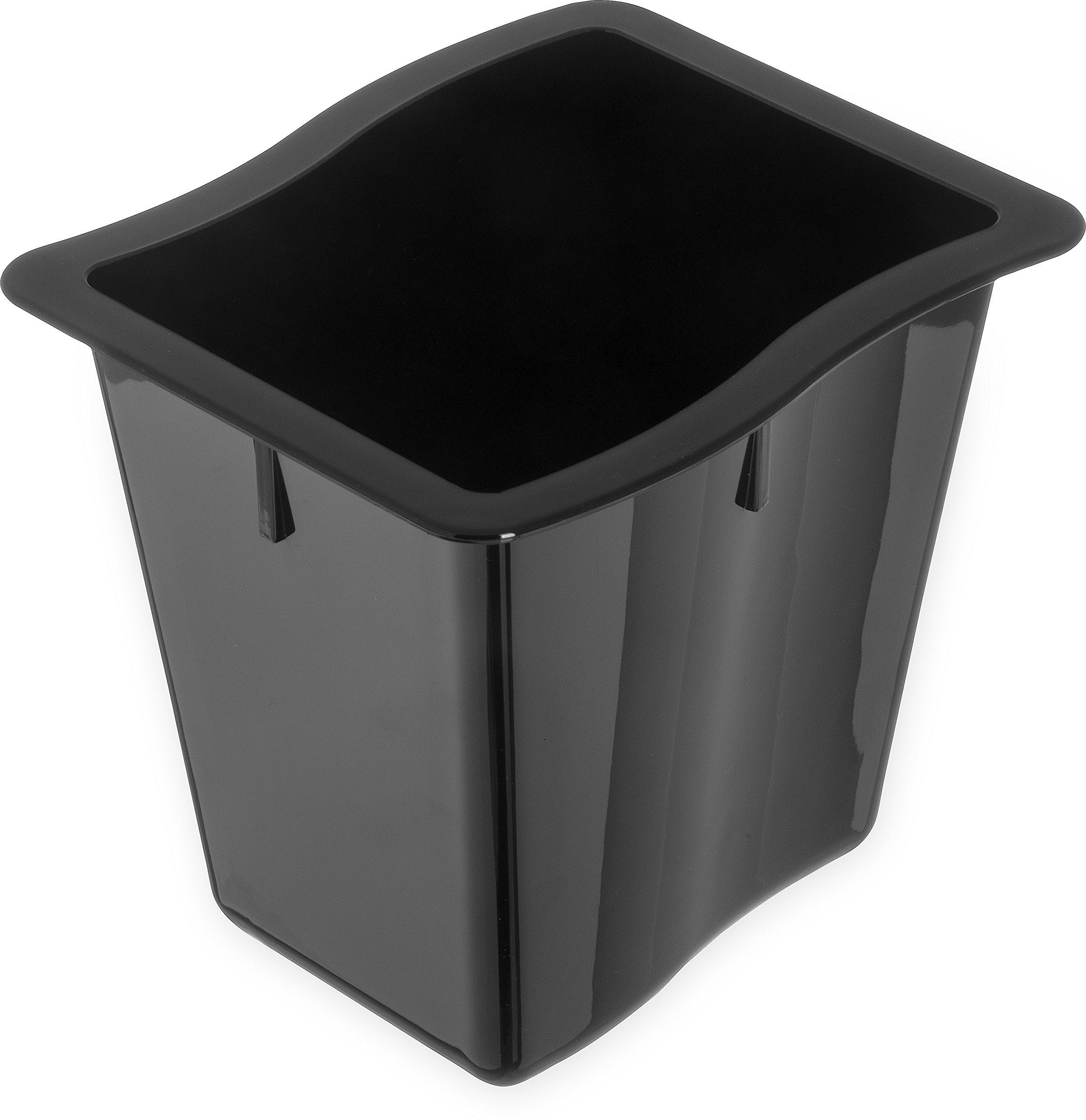 Carlisle 6986603 Modular Displayware Polycarbonate Third-Size Food Pan, 6.62 x 6.00 x 6'', Black (Case of 6)