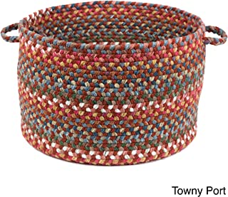 product image for Rhody Rug Charisma Multi-Colored 18x12-inch Basket by Red