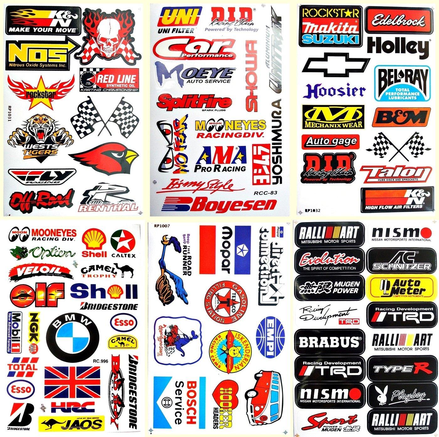 Motorsport Cars Hot Rod Nhra Drag Racing Lot 6 Vinyl Decals Stickers D6053