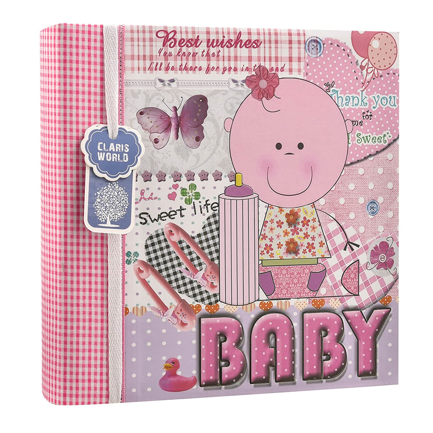Arpan Baby Boy Blue Memo Slip In Photo Album 200 6'x4'' Photos Ideal Gift (BLUE) AL-9772
