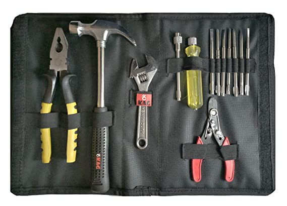 Kag HK103 Home Hand Tool Kit-1 Pc of 1/2 Lb Claw Hammer,1 Pc 8