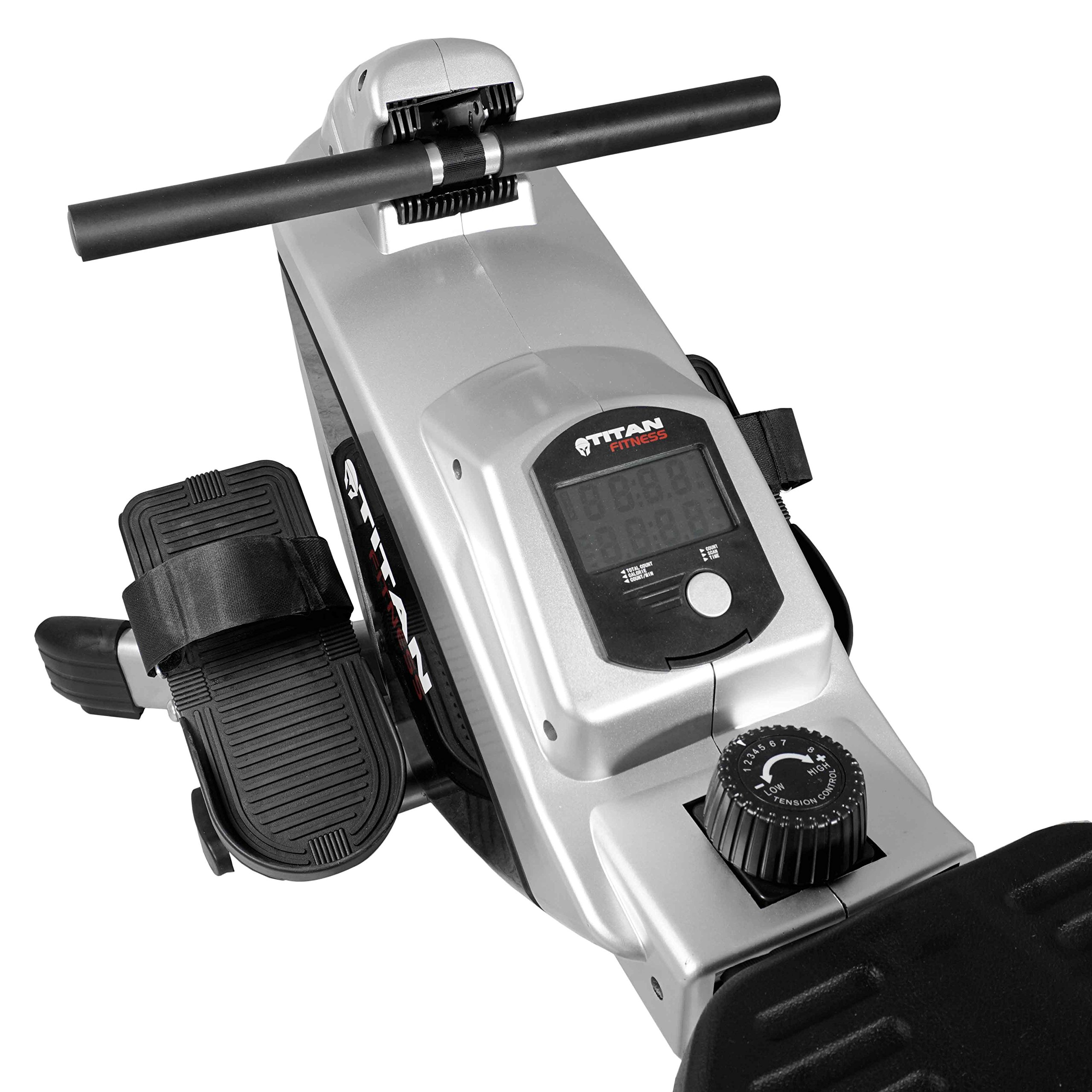 Titan Adjustable Magnetic Resistance Rowing Machine w/LCD Screen Rower Folds Up & Saves Space by TITAN FITNESS (Image #7)