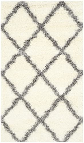 Safavieh Montreal Shag Collection SGM866B Ivory and Grey Area Rug 3 x 5