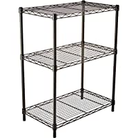 AmazonBasics 3-Shelf Shelving Unit (Black)