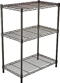 AmazonBasics 3-Shelf Shelving Unit (Black)