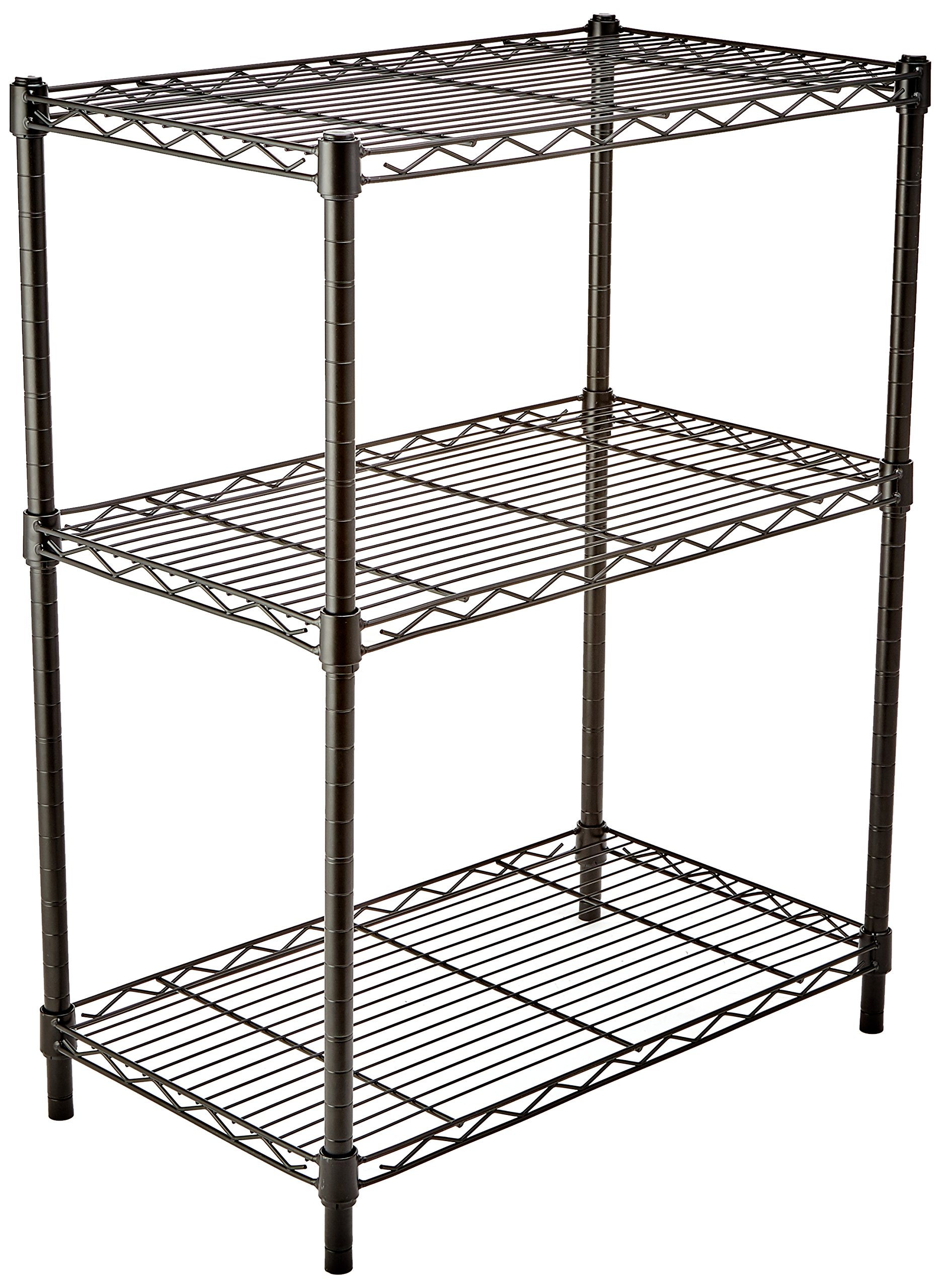 AmazonBasics 3-Shelf Shelving Unit - Black