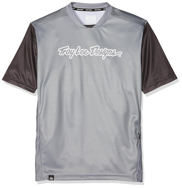 Troy Lee Designs Skyline Short-Sleeve Jersey Mens Checker Navy//Gray S