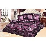 Tache Midnight Bloom Queen Quilt Comforter Set, 6 Piece