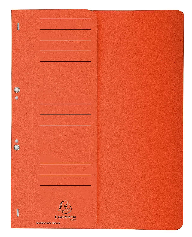 Leitz 50 x /Ösenhefter A4 1//2 Vorderdeckel Karton kaufm/ännische Heftung rot